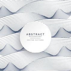 стильный белый фон с абстрактными волнистых линий Бесплатные векторы