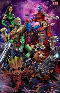 Marvel Universe 800374165002531341 - GOTG by Tyrine Carver and Wil Woods of Musetap Studios Source by Marvel Comic Universe, Comics Universe, Marvel Dc Comics, Marvel Heroes, Marvel Avengers, Marvel Cinematic Universe, Captain Marvel, Films Marvel, Marvel Characters