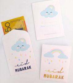 in my studio |   Week 1 | Eid money packets, eid money envelopes. eid mubarak