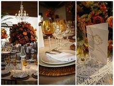 Decoração de mesa para convidados - Casamento Ana Helena e Leandro
