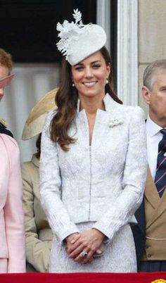 Kate celebrating Queen Elizabeth's 88th birthday at the Trooping the  Colour parade, June 14, 2014.