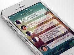 Transparent chat bubbles