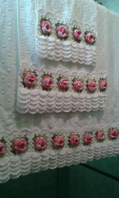 Super Ideas For Crochet Lace Edging Dish Towels Crochet Lace Edging, Crochet Borders, Crochet Cardigan Pattern, Crochet Flowers, Crochet Amigurumi Free Patterns, Crochet Mittens, Crochet Yarn, Crochet Stitches, Crochet Home