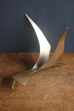 Curtis Jere Abstract Bird Sculpture Mid Century by JunkHouse