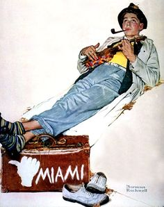 """Norman Rockwell """"The Hitchhiker"""" (1940)"""