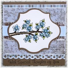 Heartfelt Creations | Baby Blue Posy Branch