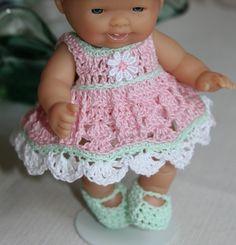 PATTERN Crochet 5 inch Berenguer Baby Doll Halloween Pumpkin Patch Dress Set. $5.00, via Etsy.