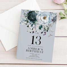 image 0 Happy Birthday Yard Signs, First Birthday Posters, First Birthday Parties, Teen Birthday, 12th Birthday, 13th Birthday Invitations, Sweet 16 Invitations, Printable Birthday Invitations, Birthday Template