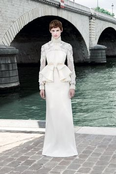 Saskia de Brauw, a model Tisci championed, in his Fall 2011 Couture, one of her…