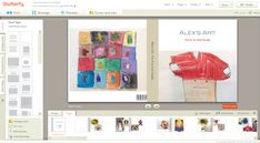 How do you organize kids artwork? Digitize their art then create photobooks using the digital images. See more art organizing tips and ideas at the Refined Rooms Blog