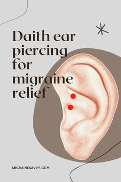 Anecdotal evidence from one study showed 20% participants had migraine relief with daith piercing. 20% had no further attacks! Come get all the details before you consider this treatment @migrainesavvy #daith #piercing #headaches #migraines Ear Piercing For Headaches, Piercing For Migraine Relief, Daith Piercing Migraine, Daith Piercing Jewelry, Anecdotal Evidence, Migraine Attack, Types Of Ear Piercings, Mother Tattoos, Alternative Medicine