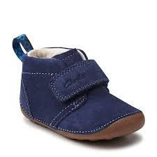 2ac03705c1 Clarks Tiny Hero Boot in Navy. Clarks Desert Boot, Desert Boots, Cute Ankle.  Little Feet Childrens Shoes
