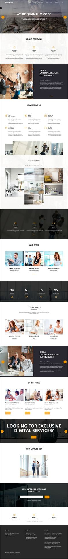 Quantum is a perfect responsive #Bootstrap #HTML theme for multipurpose #corporate onepage or multipage website with 40+ unique homepage layouts download now➩ https://themeforest.net/item/quantum-creative-multipurpose-html5-template/18704981?ref=Datasata