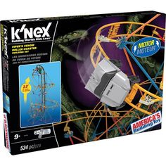 Go on a twisting and turning adventure with the Viper's Venom Roller Coaster Building Set! Build with over 534 K'NEX pieces including rods connectors and track that build a model over 3 feet high! W...