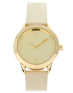 Simple gold watch
