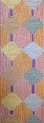 Guest room. Warlukurlangu Artists - Gloria Napangardi Gill - Ngurlu Jukurrpa (Native Seed Dreaming) - 219/12ny