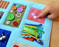 Quiet book Educational toys Quiet Book Pattern by HappyToyHouse Sensory Blanket, Sensory Book, Sensory Tubs, Alzheimers, Fidget Blankets, Fidget Quilt, Traveling With Baby, Quiet Books, Diy Crafts Home