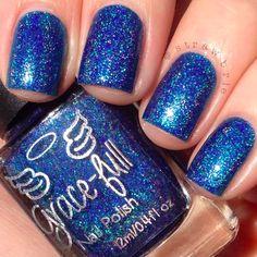 Grace-full Nail Polish Blueberry Bubbles