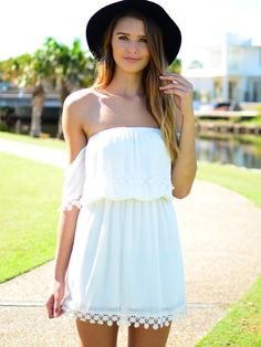 I really want a dress with sleeves like this for the summer