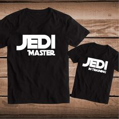 Jedi Master Jedi In Training Matching Tees _ Matching Custom Clothes _ Father and Son Tees _ Clever Star Wars T-Shirts  _ PrimeDecals