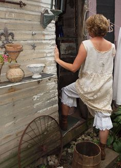 Antique Lace and Flax Dress