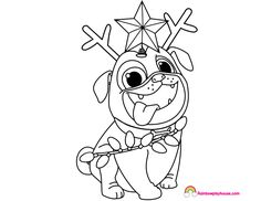 Puppy Dog Pals Captain Dog Coloring Page - Rainbow ...