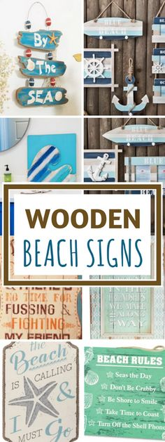 Wooden Beach Signs For The Absolute Best Beach Wall Decor!