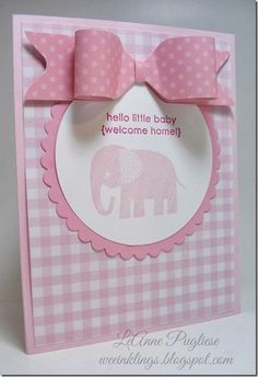 Zoo Babies Stampin Up Baby Card