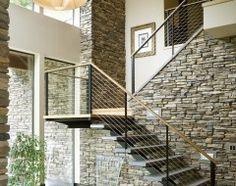 contemporary staircase by Alan Mascord Design Associates Inc