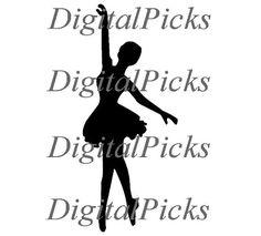 11.497 x 4.790 Ballerina Black Sillhouette 2 by DigitalPicks