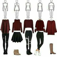 Wich outfit is your go to outfit? 1 2 3 4 or 5 mine is 3 and 4