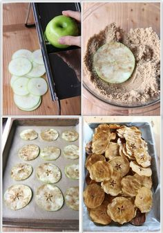 How To Make Homemade Apple Chips from OurHomeSweetHome.org - minus the sugar makes it paleo-friendly
