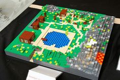 Minecraft lego map. Great idea. Minecraft Activities, Minecraft Crafts, Lego Minecraft, School Projects, Projects For Kids, Lego Boards, Minecraft Birthday Party, Lego Instructions, Legos