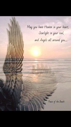 May you have Heaven in your heart, starlight in your soul and angels all around you. Spiritual Quotes, Positive Quotes, Great Quotes, Inspirational Quotes, Motivational, Heaven Quotes, Grieving Quotes, Angel Prayers, I Believe In Angels