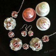 Nespresso Art - necklace and earrings