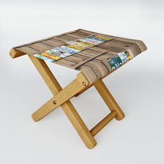 Chowder House Folding Stool by richc Folding Stool, When It Rains, Prince Edward Island, Kick Backs, Table Cards, Kids Cards, Cold Drinks, Drafting Desk, Stools