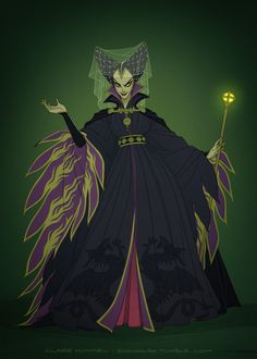 Sleeping Beauty's Maleficent in historically accurate garb.