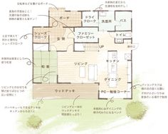 一階 House Layout Plans, Dream House Plans, House Layouts, House Floor Plans, Plan Sketch, Architecture Plan, My House, New Homes, Flooring