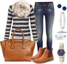 Andrea Moda y Asesoría: Blusa Rayas azules Jean Medio