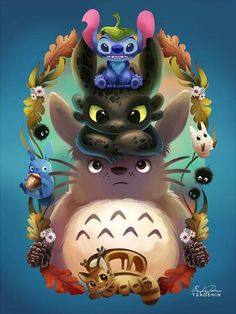 Merchandise Gifts & Products to Totoro Fans. Accessories, T-Shirt, Bag, Plush, totoro slipper Cute Disney Drawings, Cute Drawings, Drawing Faces, Disney Kunst, Disney Art, Toothless And Stitch, Desenhos Cartoon Network, Disney Stich, Film Anime