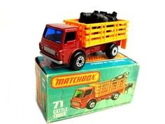 Vintage Matchbox Superfast Cattle Truck Toy Collectible Made in England