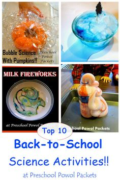 Start your year with a bang!!  Top 10 Back to School Science Activities   Preschool Powol Packets