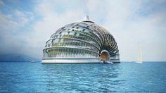 O futuro está nas casas flutuantes -  Ark Hotel é uma ideia russa que suporta qualquer condição do mar. ARK HOTEL