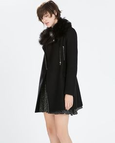 Image 4 of COAT WITH ZIPS from Zara