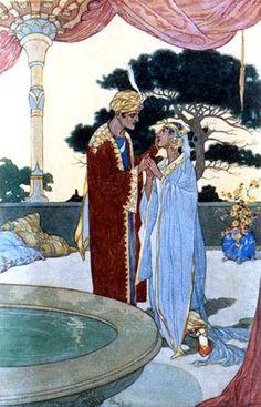 The Arabian Nights  illustrated by René Bull.