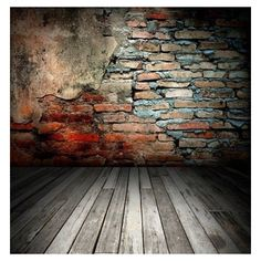 Beautiful Old Room With Brick Wall Texture Backgrounds ❤ liked on Polyvore