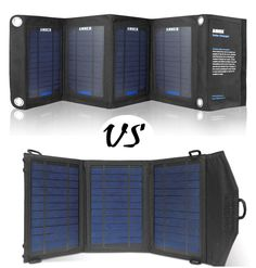 Best Portable Solar Charger: Anker 14W Solar Charger Vs Instapark 10W Solar Charger - Portable Solar Power for Camping and Emergency