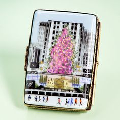 I'll pretend its a gift from John, who worked for NBC for 30 years!  Limoges Rockefeller Center postcard box