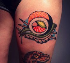 Sushi tattoo #RecetasGratis #Tatuajes #Comida #Tattoo #Food