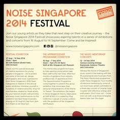 Hi friends,  Terence Koh's artwork has been selected for showcase at the Noise Singapore 2014 Festival Exhibition!  Event: Noise Singapore 2014 Festival Exhibition Date: 27 Aug – 14 Sep 2014 Time: 10am to 9pm daily Venue: ION Orchard, basement 4 (ION Station – Event Hall, near MUJI) Admission: Free  Do come and visit the event, Thank Ü!!   www.slothstudio.com